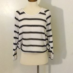 Foreign Exchange Cropped Striped Top